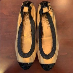 Chanel ballet style shoes